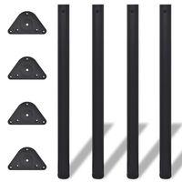 4 db állítható magasságú asztalláb 870 fekete