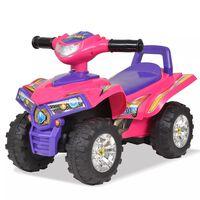 vidaXL rózsaszín/lila gyerek quad hang- és fényeffekttel
