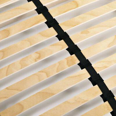 vidaXL 7 zónás, 28 léces ágyrács 120 x 200 cm