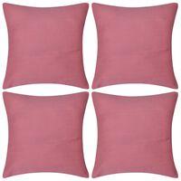 4 db vászon jellegű párnahuzat 50 x 50 cm rózsaszín