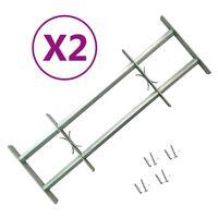 vidaXL 2 db állítható biztonsági ablakrács 1000-1500 mm