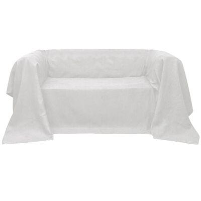 Mikro szálas kanapé terítő / védőhuzat 270 x 350 cm krém szín