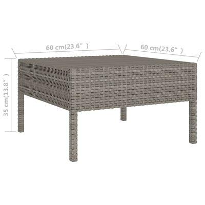vidaXL 2-részes szürke polyrattan kerti bútorszett párnákkal