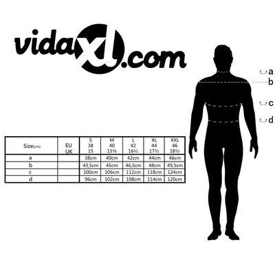 vidaXL Csíkos fehér és kék S méretű üzleti férfi ing