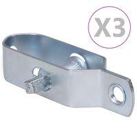 vidaXL 3 darab ezüstszínű acél huzalfeszítő kerítéshez 90 mm