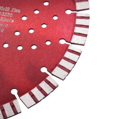vidaXL gyémánt vágókorong turbó és furatos acéllal 230 mm