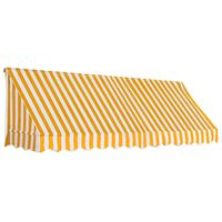 vidaXL narancssárga és fehér bisztró napellenző 300 x 120 cm