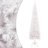 vidaXL fehér vékony karácsonyfa 180 cm
