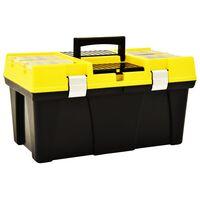 vidaXL sárga műanyag szerszámosláda 595 x 337 x 316 mm