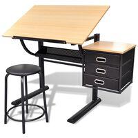 Billenthető Asztal Iróasztal Székkel