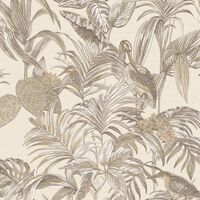 DUTCH WALLCOVERINGS krémszínű paradicsommadaras tapéta