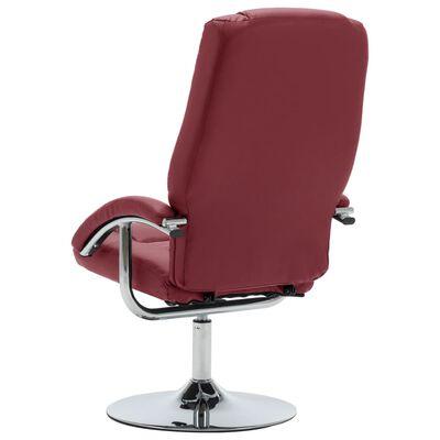 vidaXL bordó dönthető műbőr fotel lábzsámollyal