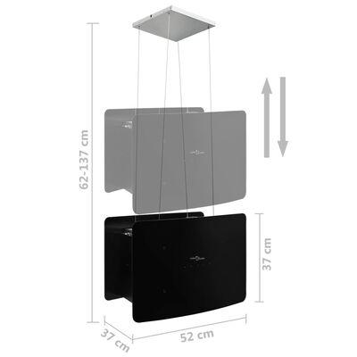 vidaXL edzett üveg LCD érintőképernyős sziget páraelszívó,