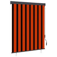 vidaXL narancssárga és barna kültéri roló 140 x 250 cm
