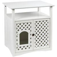 Kerbl Helena 82662 fehér alomtartó szekrény 64 x 46 x 65 cm