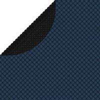 vidaXL fekete és kék napelemes lebegő PE medencefólia 381 cm