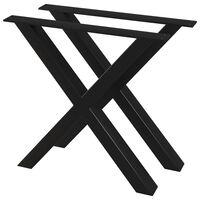 vidaXL 2 db X-alakú étkezőasztal láb 80 x 72 cm