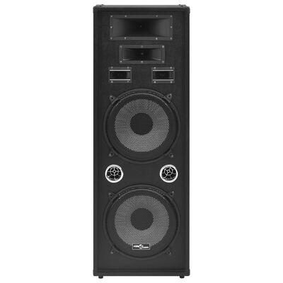 vidaXL fekete professzionális passzív hifi színpadi hangszóró 1000 W