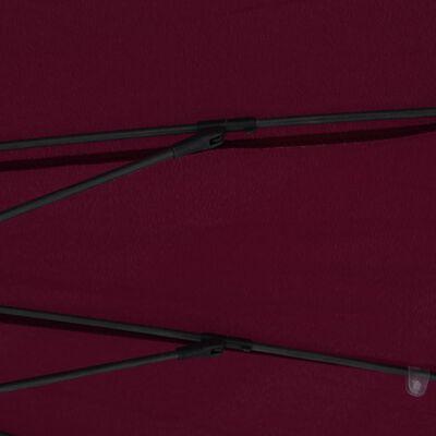 vidaXL bordóvörös kültéri napernyő alumíniumrúddal 270 cm