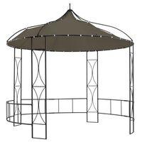 vidaXL tópszínű kerek pavilon 300 x 290 cm