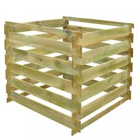 vidaXL négyzet alakú fa komposztáló láda 0,54 m3