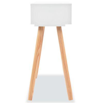 vidaXL fehér tömör fenyőfa tálalóasztal 80 x 30 x 72 cm