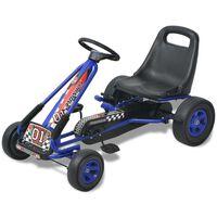 vidaXL pedálos gokart kocsi állítható üléssel kék