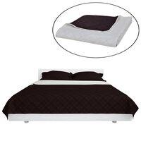Kétoldalú vattázott ágytakaró 220 x 240 cm bézs/barna