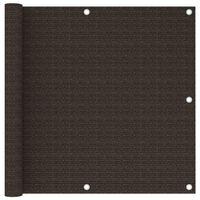 vidaXL barna színű HDPE erkélytakaró 90 x 500 cm
