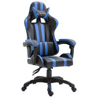 vidaXL kék műbőr gamer szék