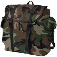 vidaXL katona stílusú hátizsák 40 L kamuflázs mintás
