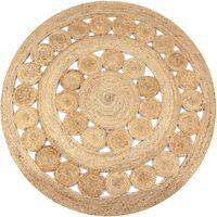 vidaXL kör alakú, fonott juta szőnyeg 150 cm