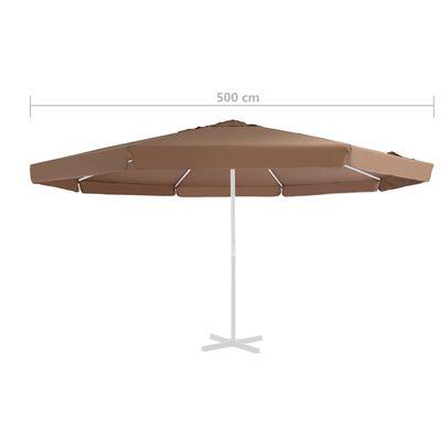 vidaXL homokszínű kültéri napernyőponyva 500 cm