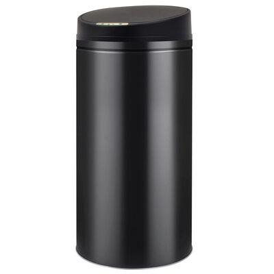 vidaXL automata érzékelős szemeteskuka 52 L fekete