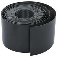 vidaXL szürke polietilén gyepszegély 10 m 15 cm