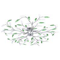 vidaXL csillár zöld akril kristály levél karokkal 5 db E14 izzó