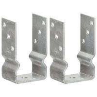 vidaXL 2 db ezüstszínű horganyzott acél kerítéshorgony 8 x 6 x 15 cm