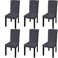 vidaXL 6 db nyujtható szék huzat antracit