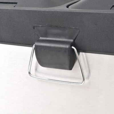 vidaXL rozsdamentes acél lábpedálos szelektív szemeteskuka 36 L