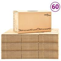 vidaXL 60 db karton költöztetődoboz XXL 60 x 33 x 34 cm