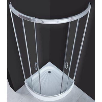 vidaXL ívelt zuhanykabin 80 x 80 cm