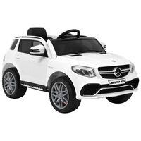vidaXL fehér műanyag Mercedes Benz GLE63S gyerek autó