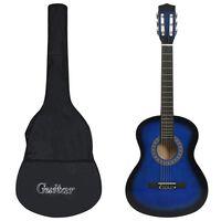 """vidaXL kék 3/4-es klasszikus gitár és tok kezdőknek 36"""""""
