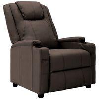 vidaXL barna műbőr dönthető szék