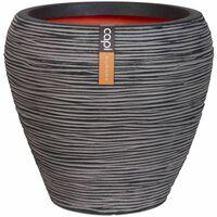 Capi Nature Rib antracitszürke kúpos váza 42 x 38 cm