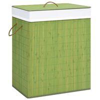 vidaXL zöld bambusz szennyestartó kosár 83 L
