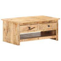 vidaXL tömör nyers mangófa dohányzóasztal 88 x 50 x 38 cm