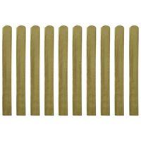 vidaXL 30 db impregnált fa kerítésléc 100 cm