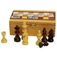 Abbey Game fekete/fehér sakkfigurák 87 mm 49CL