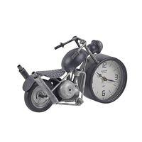 Motor Alakú Fekete És Ezüst Asztali Óra 19 cm BERNO